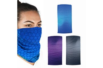 Oxford Comfy 3 Pack Prismatic Head Neck Windproof Face Mask Weather Protection