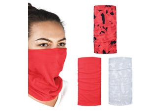 Oxford Comfy 3 Pack Havoc Red Head Neck Windproof Face Mask Weather Protection