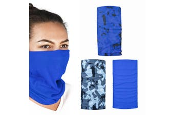 Oxford Comfy 3 Pack Havoc Blue Head Neck Windproof Face Mask Weather Protection