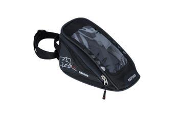 Oxford OL 351 M1R Micro 1L Magnetic Motorcycle Motorbike Black Tank Bag