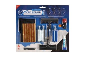 Oxford CO2 Tyre Repair Rapid Motorcycle Puncture Repair Kit