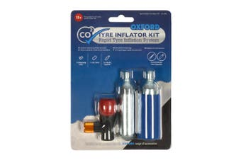 Oxford OX163 Motorcycle Motorbike Scooter Emergency CO2 Tyre Inflation Kit