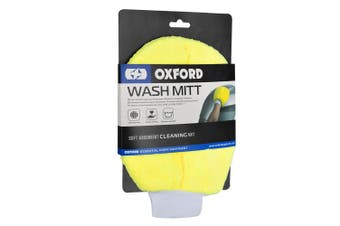 Oxford OX254 Motorcycle Scooter Car Boat Home Wash Mitt Yellow