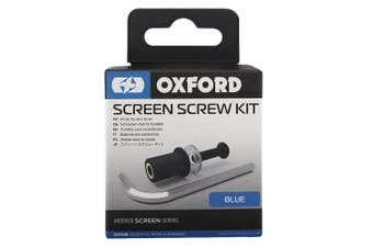 Oxford OX565 Anodised Blue Motorcycle Scooter Windscreen Screen Screw Kit