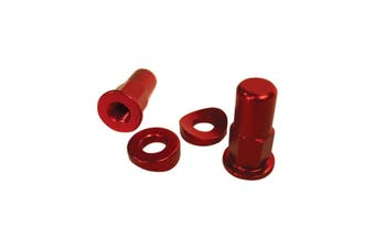 Universal Motorcycle Dirt Bike RED Alloy Anodized Rim Lock Tower Nut Kit
