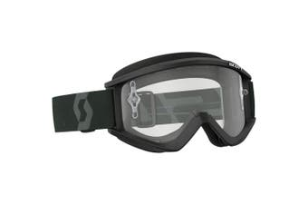 Scott NEW Mx Recoil Xi Black White Clear Lens Adults Motocross Dirt Bike Goggles