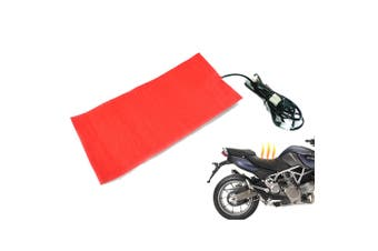 12V Universal Motorcycle Scooter Quad Carbon Fiber Seat Heater Heat-Pad Kit