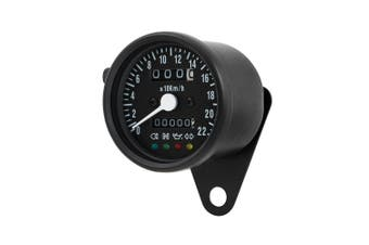 Mini BLACK LED Backlight Speedometer Suit Cafe Racer Chopper Bobber Motorcycle