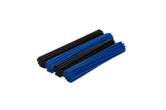 BLUE AND BLACK Wheel Spoke Skin Cover Wrap Kit for Motorcycle Dirt Sports Bike
