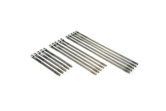 CHROME Stainless Steel ladder Style Cable Zip Ties - 15 Piece