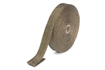 Titanium Exhaust Header Pipe Wrap 15m x 25 mm for Motorcycle Cafe Racer Bobber
