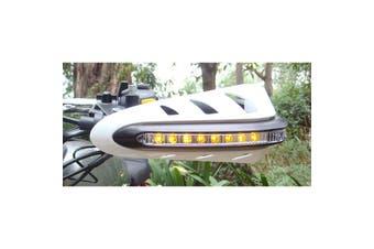 Integrated White LED Handguards Turn Signal Indicators Motorcycle Quad Bike