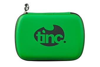 Two-Colour Hard Top Pencil Case : Green With Black Zip
