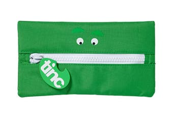Tribal Giant Zip Pencil Case : Green
