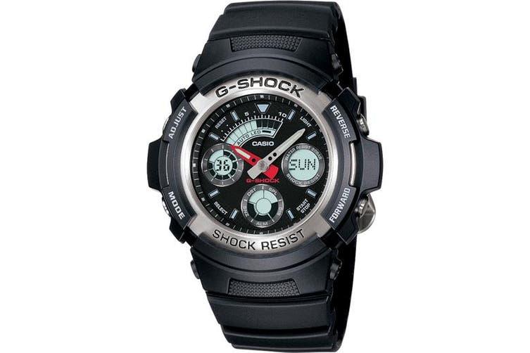 Casio G-Shock Neobrite Analogue/Digital Mens Black Watch AW-590-1ADR