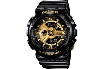 Casio Baby-G Analogue/Digital Female Black/Gold Watch BA110-1A BA-110-1ADR