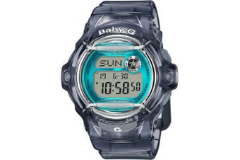 Casio Baby-G Female Grey / Blue Digital Watch BG169R-8B BG-169R-8BDR