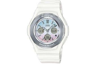 Casio Baby-G Pastel White Starry Sky Series Analogue/Digital Girls Watch BGA100ST-7A BGA-100ST-7ADR