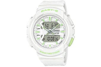 Casio Baby-G Unisex White/Green Analogue/Digital Running Series Watch BGA240-7A2