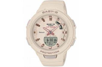 Casio Baby-G G-SQUAD Series Bluetooth Rose Gold/Beige Analogue/Digital Watch BSAB100-4A1 BSA-B100-4A1DR