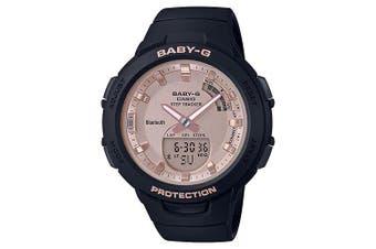 Casio Baby-G G-SQUAD Series Bluetooth Black/Rose Gold Analogue/Digital Watch BSAB100MF-1A BSA-B100MF-1ADR