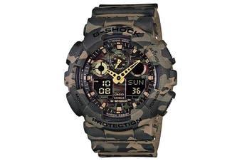 Casio G-Shock Analogue/Digital Mens Green Camouflage Series Watch GA100CM-5A GA-100CM-5ADR