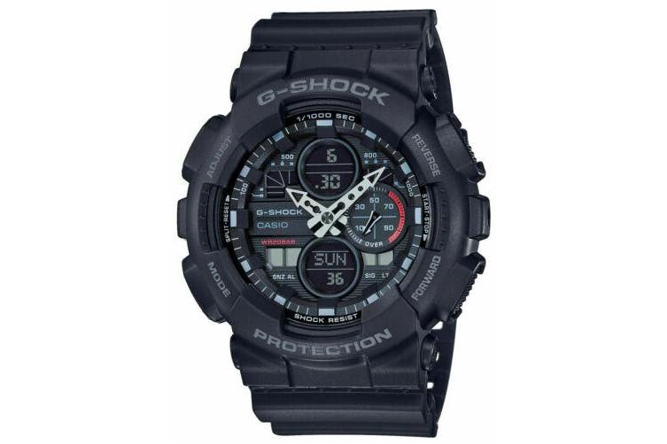 Casio G-Shock 90's Motif Black Analogue Watch GA140-1A1 GA-140-1A1DR