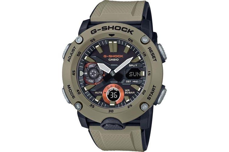 Casio G-Shock Analogue/Digital Carbon Core Guard Brown Men's Watch GA2000-5A GA-2000-5A