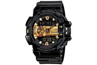 Casio G-Shock G'MIX Bluetooth Analogue/Digital Mens Black/Gold Watch GBA-400-1A9DR