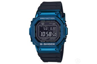 Casio G-Shock Full Metal Resin Band Bluetooth Digital Black/Blue Watch G-Shock GMWB5000G-2 GMW-B5000G-2DR