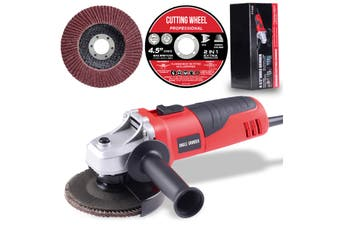 "115mm Angle Grinder 4.5"" 500W Cutting Grinding Tool with Discs Safety Switch"