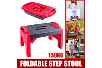 Portable Folding Step Stool Ladder Non slip Caravan Camping Durable Lightweight