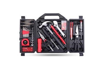 88PCs Household Hand Tool set Utility Kit Hammer Plier Scissor Knife Screwdriver