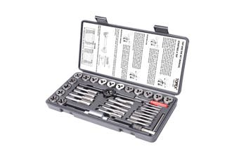 40-Piece Imperial Tap and Die Set Screw Thread Drill Kit Pitch Gauge M3-M12