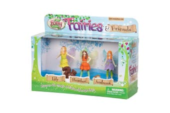 My Fairy Garden Fairies and Friends Figures - 3 pack