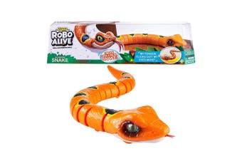Zuru Robo Alive Slithering Snake Robotic Toy in Orange