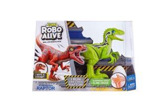 Zuru Robo Alive Robotic Rampaging Raptor with Slime in Green