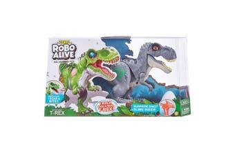 Robo Alive Robotic Dinosaur with Slime in Grey