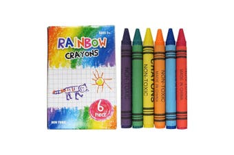 Rainbow Crayons 6-Piece Set