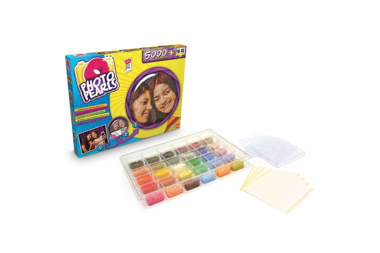 Photo Pearls 5000 Pieces Iron On Fuse Bead Craft Set