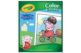 Crayola Colour & Sticker Peppa Pig Set