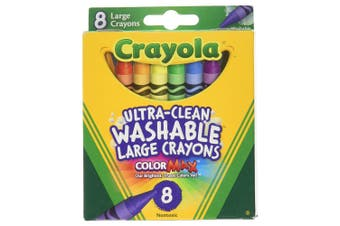 Crayola Washable Large Crayons - 8 Pack