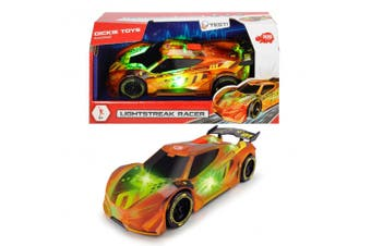 Dickie Toys Lightstreak Friction Powered Racer Car with Lights