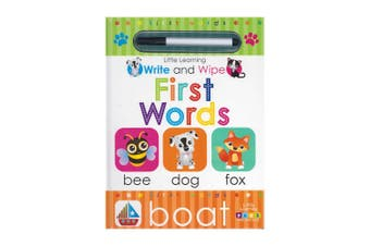 Little Learning Write and Wipe First Words