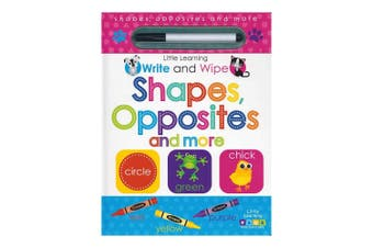 Little Learning Write and Wipe Shapes Opposites and More