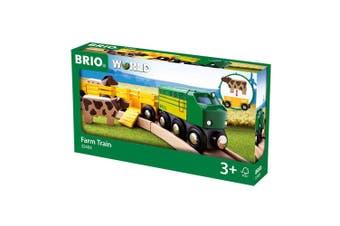 Brio Farm Wooden Train Set