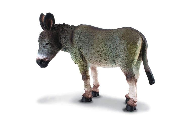 CollectA Farm Time Donkey Grey Toy Figure