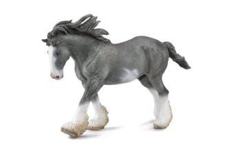 Clydesdale Stallion Black Sabino Roan XL