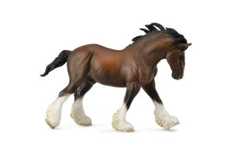 CollectA Horse Country Clydesdale Stallion Bay XL