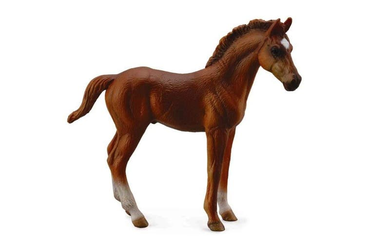 CollectA Horse Country Chestnut Thoroughbred Foal Standing Toy Figure